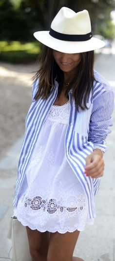 Stripes Over White by Lovely Pepa