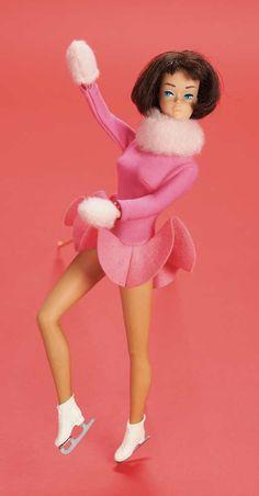1965 Barbie Skater's Waltz # 1629  Brunette American Girl Barbie