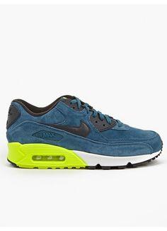 8b0ed7b7a1c Nike Mens Blue Air Max 90 Premium Sneakers Blue Air Max, Air Max 90 Premium