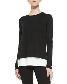 T9HZU Vince Two-Tone Layered Tee