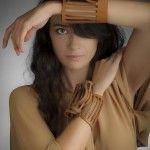 sculptural leather bracelets