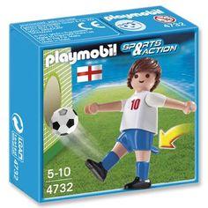 PLAYMOBIL Sports & Action voetbalspeler Engeland 4732  Speel met jouw favoriete speler uit het geweldige voetbalelftal van Engeland. Probeer de bal in het doel te schieten en groei uit tot de meest waardevolle speler van het toernooi! PLAYMOBIL-nr. 4732.  EUR 1.98  Meer informatie