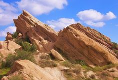 Vazquez Rocks, Aqua Dolce, California - A fun place to hike, and a very famous spot where many movies, TV shows and ads have been filmed
