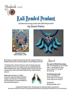 Bead weave a pendant and earrings (both in 2 sizes!) with this original variation on beaded Cellini spiral, combining peyote and herringbone stitches. The beadwork is stitched with just 2 sizes of regular Japanese seed beads. So if you are a bead weaver, you probably already have