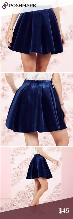 """LC Lauren Conrad Runway Collection Velvet Skirt Adorable Lauren Conrad pleated skirt. Full pleated unlined with a zip up back. 25 1/2"""" approximate length. LC Lauren Conrad Skirts"""
