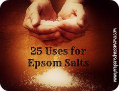 25 Uses for Epsom Salts - 72 Hour Kits - Emergency Preparedness