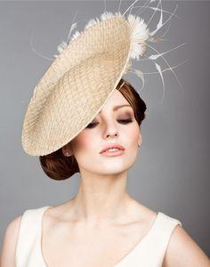 Rachel Trevor Morgan, S/S Straw mesh disc with feather flowers. Millinery Hats, Fascinator Hats, Fascinators, Headpieces, Rachel Trevor Morgan, Occasion Hats, Kentucky Derby Hats, Fancy Hats, Love Hat