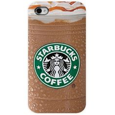 Starbucks coffee drink Case For Apple iPhone 6 PLUS fitted hard case... ($12) ❤ liked on Polyvore #AppleIphone6