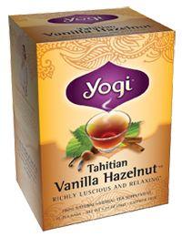 Vanilla Hazelnut Tea by Yogi Tea - Buy Vanilla Hazelnut Tea (1698 MG) 16 Bag at the Vitamin Shoppe    THIS TEA IS SOOOOOOO GOOD. SO RICH AND SWEET. IT'S GREAT WITH MILK AND HONEY. #vitaminshoppecontest
