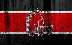 Download wallpapers Moose Jaw Warriors, 4k, grunge, WHL, hockey, art, Canada, logo, stone texture, Western Hockey League