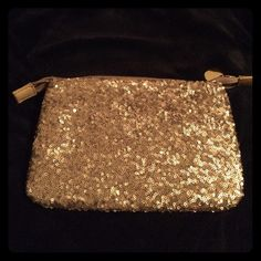 The Limited Sequined Cosmetic Bag Gorgeous cosmetic bag! Has some small make-up spots inside but nothing major, still in great condition! For all your make-up needs! The Limited Bags Cosmetic Bags & Cases