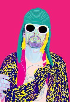 Kurt Cobain gone NEON