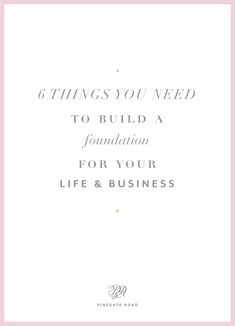 6 things you need to