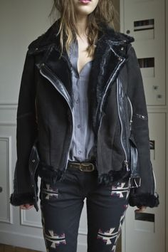 Anne Reczka's leather Jacket , I've been looking for an jacket like this when the weather cools down .