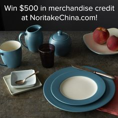 Enter now to win $500 in merchandise credit to NoritakeChina.com! Entry period closes on Friday, March 28, 2014, at 11:59 PM EST.