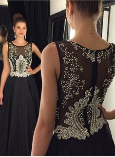 BLACK Evening Gowns Evening DRESSES PROM DRESSES