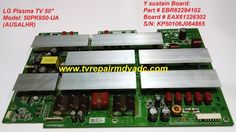 LG Plasma 50PK950-UA. Y sustain Board: EBR62294102, EAX61326302 / Important News #LG