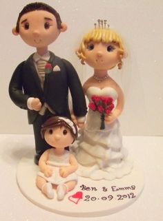 wedding cake topper with toddler.