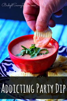 This is the BEST dip I have EVER had. I ate so much it ruined my dinner - naturally gluten free. Addicting Party Dip Recipe #recipe #dip #glutenfree #budgetsavvydiva via budgetsavvydiva.com