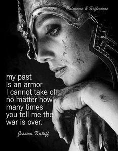 I don't regret a thing I've done. I don't wish I could change anything. Why? Because I've learned lessons that I never would have learned otherwise, and those lessons are my armor from repeating past mistakes. I'll never be a Queen. I'm a fucking Warrior. #PTSD