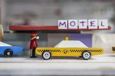 Candylab Toys' vintage wooden toy taxi