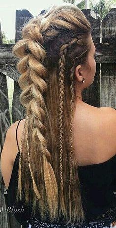 Pretty Hairstyles, Braided Hairstyles, Wedding Hairstyles, Viking Hairstyles, Lagertha Hair, Celtic Hair, Curly Hair Styles, Natural Hair Styles, Hair Reference