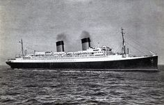 """CGT's """"Ile de France"""" in her post-war guise of One of the best loved trans-Atlantic liners of all time. Major Oceans, One Liner, His Travel, Southampton, World War I, All About Time, The Past, Boat, Cruise Ships"""