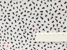 Neon Fleck - A Black and white print with super fun neon pink flecks from Rico Design.