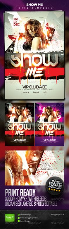 Show Me Flyer Template