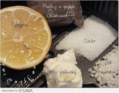 Domowy peeling 100 g cukru 100 g soli morskiej 20 ml ol… na Stylowi.pl