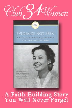"""My life was changed when I heard Darlene Rose's story. It challenged my faith as nothing else had."" ~ Ruth Bell Graham (wife of Billy Graham). If your faith is feeling somewhat shaky and you could use some encouragement? Then I'd highly recommend reading this amazing and inspiring story. Evidence Not Seen - A Faith-Building Story You Will Never Forget"