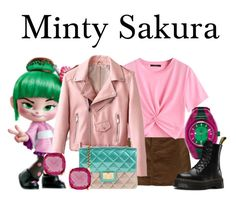 """""""Minty Sakura"""" by megan-vanwinkle ❤ liked on Polyvore featuring Frame, Gucci, Design Inverso, Dr. Martens, polyvoreeditorial and powerlook"""