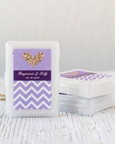 Pick a card, any card! These themed playing cards with personalized labels are perfect for any wedding, bridal shower, or bachelorette party!