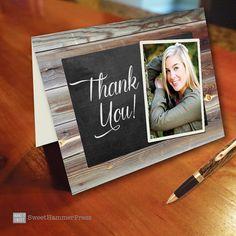 refined graduate custom thank you cards high school graduation