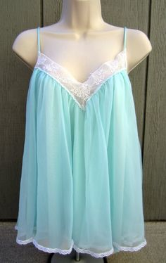 Vintage Chiffon Babydoll Nightgown Lingerie by LavaLampVintage