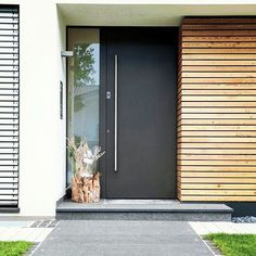 The Rule for Modern Front Door – futthome – Beautiful Doors Modern Entrance Door, Modern Front Door, Front Door Entrance, House Front Door, Front Door Design, House Doors, House With Porch, House Entrance, Office Entrance