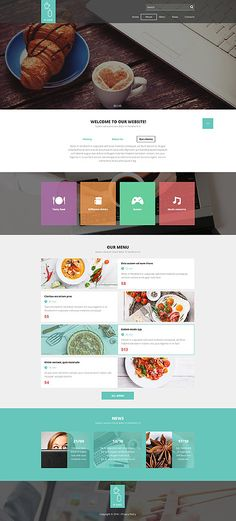 It Cafe, delivery or reservation #website #template. #themes #business #responsive