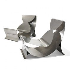 Maria Pergay / lounge chairs, pair