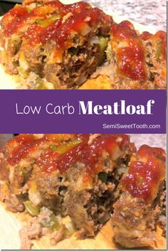 Easy to make Low Carb Meatloaf. A healthier meatloaf? Count me in! The perfect dinner that the whole family can enjoy. Meat Recipes For Dinner, Healthy Meat Recipes, Beef Recipes, Low Carb Recipes, Recipies, Low Carb Meatloaf, Healthy Meatloaf, Meatloaf Recipes, Diabetic Meatloaf Recipe