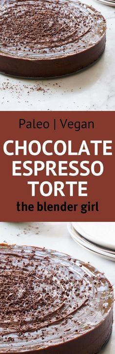 Vegan Chocolate Espresso Cake | Dairy-Free Chocolate Espresso Cake | The Blender Girl #vegandessert #expressocake #cakerecipe