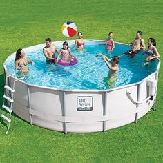 proseries 16 x 48 metal frame swimming pool with