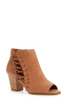 Free shipping and returns on Lucky Brand 'Hartlee' Open Toe Bootie (Women) at Nordstrom.com. Decorative corset-inspired lacing and a stacked setback heel add Western flair to a chic open-toe bootie.