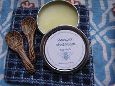 Our new kid-safe wood polish. Made with local beeswax & orange oil: for wood toys, bowls, utensils. Kits have handsewn polish cloths & palm wood spoons.  https://www.etsy.com/shop/ParkroseMarket