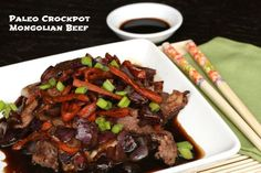 Paleo Crockpot Mongolian Beef | OAMC from Once A Month Meals