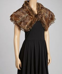 Take a look at this Coffee Faux Fur Shrug by Pretty Angel on #zulily today!