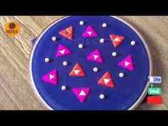 Hand embroidery 2019 | All over design and embroidery with Triangle Mirror | Keya's Craze - YouTube Hand Embroidery Videos, Embroidery Stitches Tutorial, Hand Work Embroidery, Creative Embroidery, Simple Embroidery, Silk Ribbon Embroidery, Hand Embroidery Designs, Embroidery Patterns, Triangle Mirror