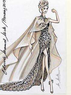 Pronovias: fotos bocetos vestidos de novia 2013