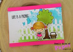 Your Next Stamp:  Picnic Phoebe stamp and dies sets, Heart Fence die set #yournextstamp