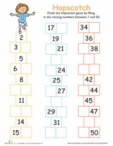 Challenge your kid to fill in the missing numbers from 1 to This is an essential skill for understanding numbers beyond just counting them from memory. Preschool Math Games, Numbers Kindergarten, Math Numbers, Lkg Worksheets, Kindergarten Math Worksheets, Teaching Math, Kindergarten Language Arts, Worksheets For Kids, Math Sheets