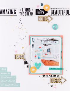 mojosanti ♥ Sandra Dietrich: Couch Magazin ... immer für eine Inspiration gut I New layout with February kit 2015 from Freckledfawn